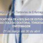 [Resultado Convocatória] 4 bolsas de estudos no âmbito do Colégio Doutoral Tordesilhas de Enfermagem (CDTE)