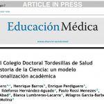 Creación del Colegio Doctoral Tordesillas de Salud Pública e Historia de la Ciencia: un modelo de internacionalización académica – UMH