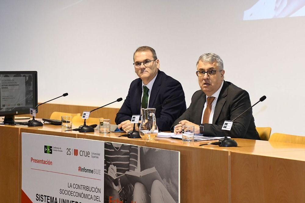 La universidad devuelve a la sociedad 4,3 euros por cada uno que la administración pública invierte en su financiación - ULL