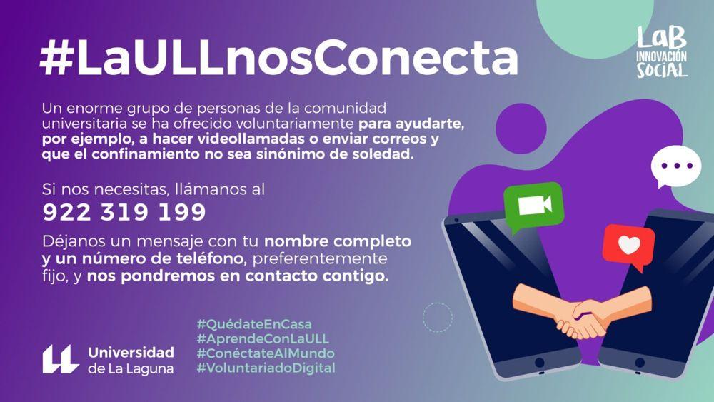 La Universidad de La Laguna lanza la iniciativa #LaULLNosConecta para mitigar la brecha digital