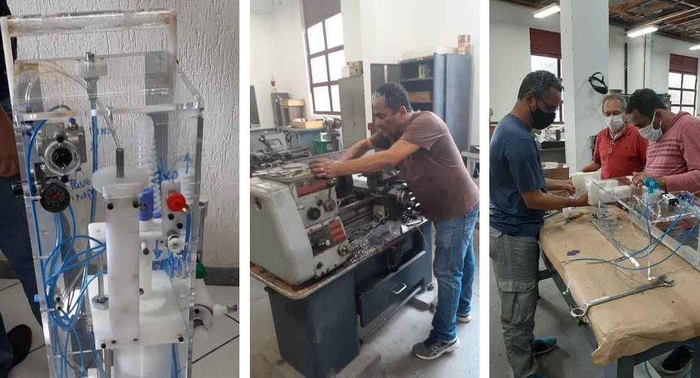 Grupo da UFMG concebe respirador mecânico de baixo custo para uso contra a covid-19